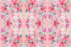 Vintage inspired floral in Peach, Pink, and Mint fabric by theartwerks on Spoonflower - custom fabric Paper Beads, Custom Fabric, Spoonflower, Vintage Inspired, Craft Projects, Peach, Mint, Quilts, Kids Rooms