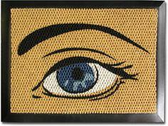 Roy Lichtenstein Inspired Door Mat.