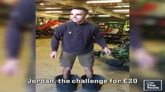 Le proponen un reto: si levanta su propio peso ganará 20 Libras. Lo conseguirá? #viral