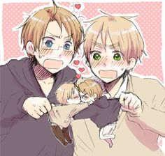 America X England (UsUk Yaoi) Aw i don't ship it, but that's just adorable