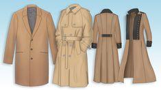 Le patron du manteau sage au manteau fantaisie, en passant par l'incontournable imperméable. Découvrez les tutos de patronage de Mode pour LoL !