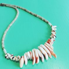 """Necklace: Ready for the Beach  Vintage shell necklace. Excellent vintage condition, never used. Total length: 15.5"""". More styles available. Vintage Jewelry Necklaces"""