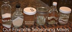 Favorite Homemade Seasoning Mixes - MUST PIN.