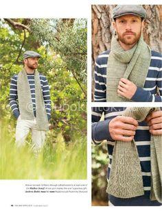 Шарф с узором | Вязание мужское | Вязание спицами и крючком. Схемы вязания.