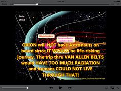 NASA engineer Kelly Smith admits they can't get past the Van Allen Belts.