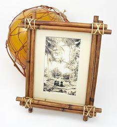 DIY Bamboo Tiki Picture Frame | protractedgarden
