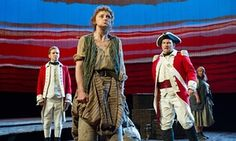 Our Country's Good' Play by Timberlake Wertenbaker performed in the Olivier Theatre at the Royal National Theatre, London, Britain - 25 Aug 2015 Jason Hughes as Ralph Clark, Jodie McNee as Liz Morden, Peter Forbes as Robbie Ross 25 Aug 2015