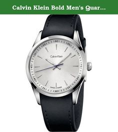 7fb5d920af Calvin Klein Bold Men s Quartz Watch K5A311C6. Calvin Klein Men s CK  K5A311C6 Black Leather Fashion