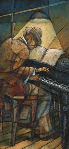 ☆ Piano Man ゝ。Artist Sidney Carter ☆