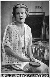 Vintage Gladys Lady's Dressing Jacket free crochet pattern