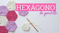 Cómo hacer un hexágono de ganchillo   Crochet hexagon