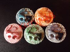 SUGARVEIL MASK TOPPERS by KERRY*CAKES, via Flickr