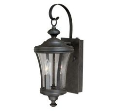 """View the Vaxcel Lighting T0146 Hanover 2 Light 5"""" Wide Outdoor Wall Sconce with Photocell Included at LightingDirect.com."""