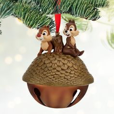 Chip & Dale Christmas Ornament - disneystore.com.... so adorable! And it's a bell!