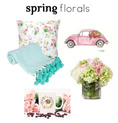 """""""April Showers Bring Flowers Inside"""" by mcounts-1 on Polyvore featuring interior, interiors, interior design, home, home decor, interior decorating and springflorals"""