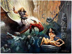 Ken Kelly - Fantasy War Bird Painting Original Art (2013) - W.B.