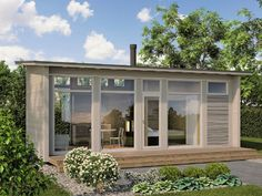 How Does Pergola Provide Shade Guest House Plans, Small House Plans, Tiny House Cabin, Cabin Homes, Patio Roof Covers, Hot Tub Pergola, Prefab Cabins, Backyard Studio, Minimalist House Design