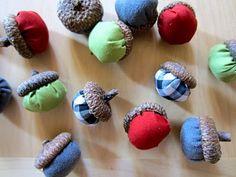 Fabric acorn DIY .. http://copy-craft.blogspot.com/2011/09/fabric-acorns.html