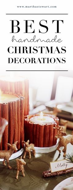 The Best Handmade Christmas Decorations | Martha Stewart Living - Dress up your home for the holidays with distinctive handmade decoration ideas from 20 years of Martha Stewart Living.