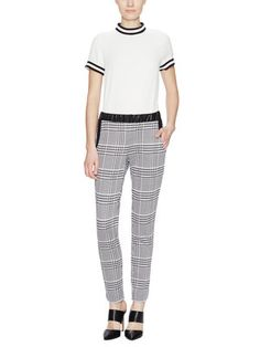 Checked-Out Mid Rise Pant