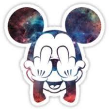 Mickey Nebula Head on Wanelo Printable Stickers, Cute Stickers, Planner Stickers, Wall Stickers, Png Tumblr, Tumblr Hipster, Badges, Beast Logo, Hipster Drawings