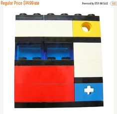 ON SALE Geek chic Primary Colors brooch  made by MademoiselleAlma #MademoiselleAlma #LEGO #ETSY