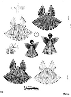 """Photo from album """"Неразобранное"""" on Yandex. Christmas Angels, Christmas Diy, Bobbin Lacemaking, Bobbin Lace Patterns, Crochet Angels, Needle Lace, Stained Glass Patterns, Lace Making, Paper Art"""