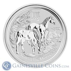 2014 2 oz Silver Australian Lunar Year of the Horse Coin http://www.gainesvillecoins.com/category/293/silver.aspx