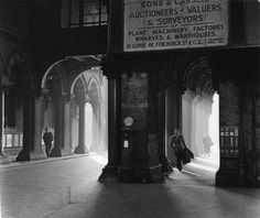St Pancras station by Colin T Gifford. Gifford is noted railway photographer. This image appears to have been taken during the 1960s as Gifford documented the decline of steam on Britain's railways.