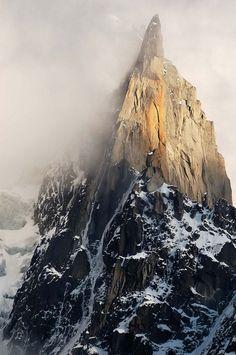 Oh, Pioneer! Mountain, Fog, Nature, snow, cap, rock, photo, sun