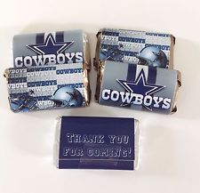 50 DALLAS COWBOYS MINI CANDY BAR WRAPPERS PARTY FAVORS