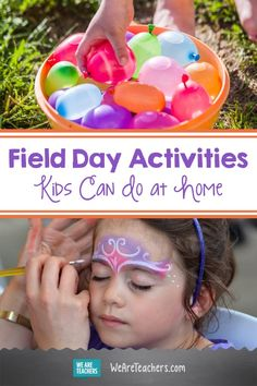 Field Day Activities Kids Can Do at Home. With schools closed through the end of the year, many activities are cancelled. Fortunately, families can recreate field day at home. Field Day Activities, Fun Summer Activities, Craft Activities For Kids, Family Activities, Games For Kids, Activity Days, Learning Activities, Craft Ideas, Track And Field Games
