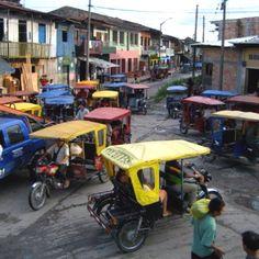Normal traffic. Belen. Iquitos, Peru.
