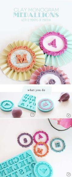 DIY clay medallions for gift packaging from Damask Love #marthastewartcrafts #12monthsofmartha