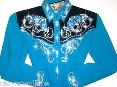Blue Ely Country Charmer... Blinged to perfection by JUST FLY DESIGNS!