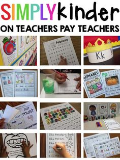 Simply Kinder - Great kindergarten printables and activities.