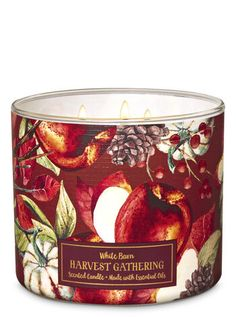 Harvest Gathering Candle - Bath And Body Works Bath Candles, 3 Wick Candles, Scented Candles, Homemade Candles, Best Smelling Candles, Lip Scrub Homemade, Fragrant Candles, Candle Packaging, Fall Scents