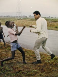 Ali...in Zaire for Rumble in the Jungle..with George Foreman..Ali won