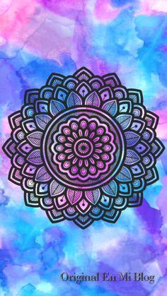 15 Powerful mandalas to take as wallpaper - Best Post Mandala Doodle, Mandala Art Lesson, Mandala Drawing, Doodle Art, Watercolor Mandala, Mandalas Painting, Mandala Artwork, Mandala Design, Mandala Background