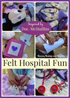Easy Felt Bandage hospital play for children - Mummy Musings and Mayhem