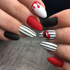 Semi-permanent varnish, false nails, patches: which manicure to choose? - My Nails Wow Nails, Funky Nails, Funky Nail Art, Red Nail Art, Cute Acrylic Nails, Acrylic Gel, Great Nails, Nice Nails, Fall Nail Designs