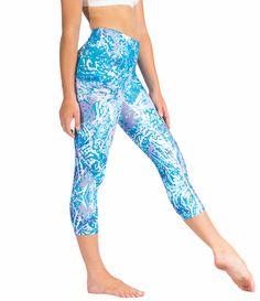 7693750dd139a Loznpoz Leggings 'Fizz' yoga pants, activewear, vibrant blue, purple, white