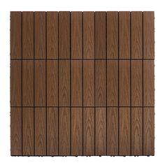 """Naturale Composite 12"""" x 12"""" Interlocking Deck Tiles in Brazilian Ipe"""