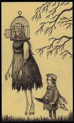 John Kenn - Post It Illustration - Monster