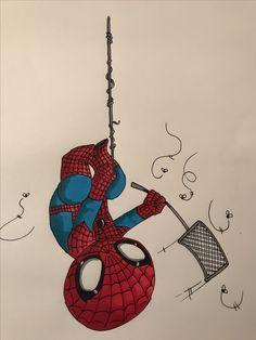 Spiderman fly swatting my art