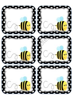 Bee Labels from Miss Nelsons Shop on TeachersNotebook.com (1 page)