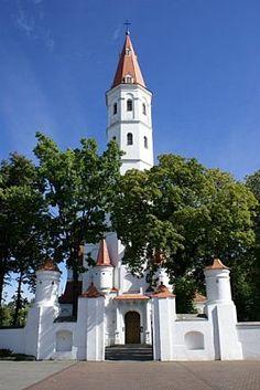 Siauliai, Lithuania i piękna katedra w tym mieście.