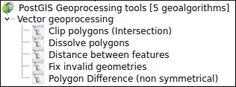 PostGIS QGIS Processing tools