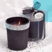 Make your wedding a sparkling one, and memorable for friends and family. Our Bling Collection Frosted Black Candle Holders will be a dazzling addition to your special day. Each round frosted black candle. Black Candle Holders, Glass Votive Candle Holders, Glass Candle, Candle Wedding Favors, Candle Holders Wedding, Candle Favors, Wedding Centerpieces, Black Candles, Diy Candles