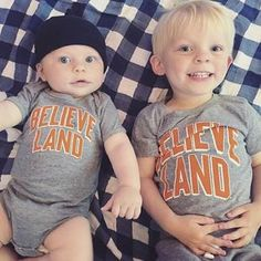 Miles and Leo are ready to cheer on the Cavs tonight!!!  #believeland #cleveland #nbafinals